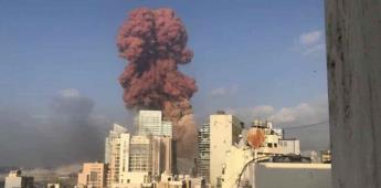 Explosión masiva sacude el puerto de Beirut