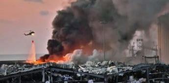 Suman al menos 27 muertos y 2 mil 500 heridos por explosión en Beirut