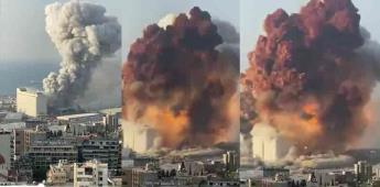 Autoridades mexicanas se mantienen en alerta por explosión en Beirut