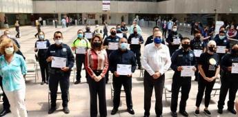 Reconoce Ayuntamiento a 55 policías municipales por su apoyo durante la contingencia sanitaria