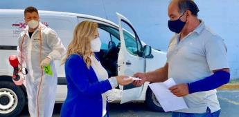 Realizó diputada jornada de sanitización de vehículos