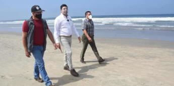 Reiteró el alcalde el uso restringido de espacios de playa