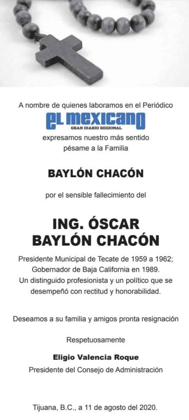 Ing. Óscar Baylón Chacón