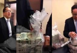 Video solo muestra una mirruña de todo el dinero que se robaron