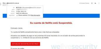 ¿Te llegó un correo de Netflix por problemas en tu cuenta? ¡Cuidado! Podría ser una trampa