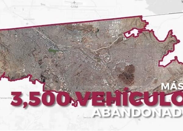 3,500 vehículos han sido abandonados en la ciudad