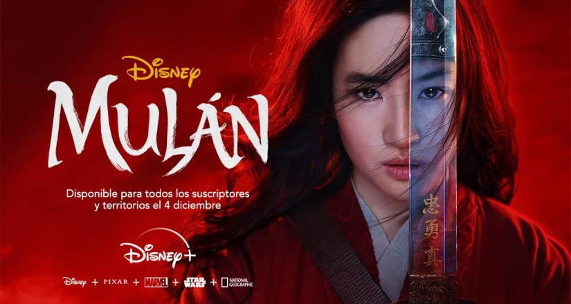 A solo 5 días del estreno de Mulán en Streaming, Disney+ anuncia que en diciembre podrá verse gratis