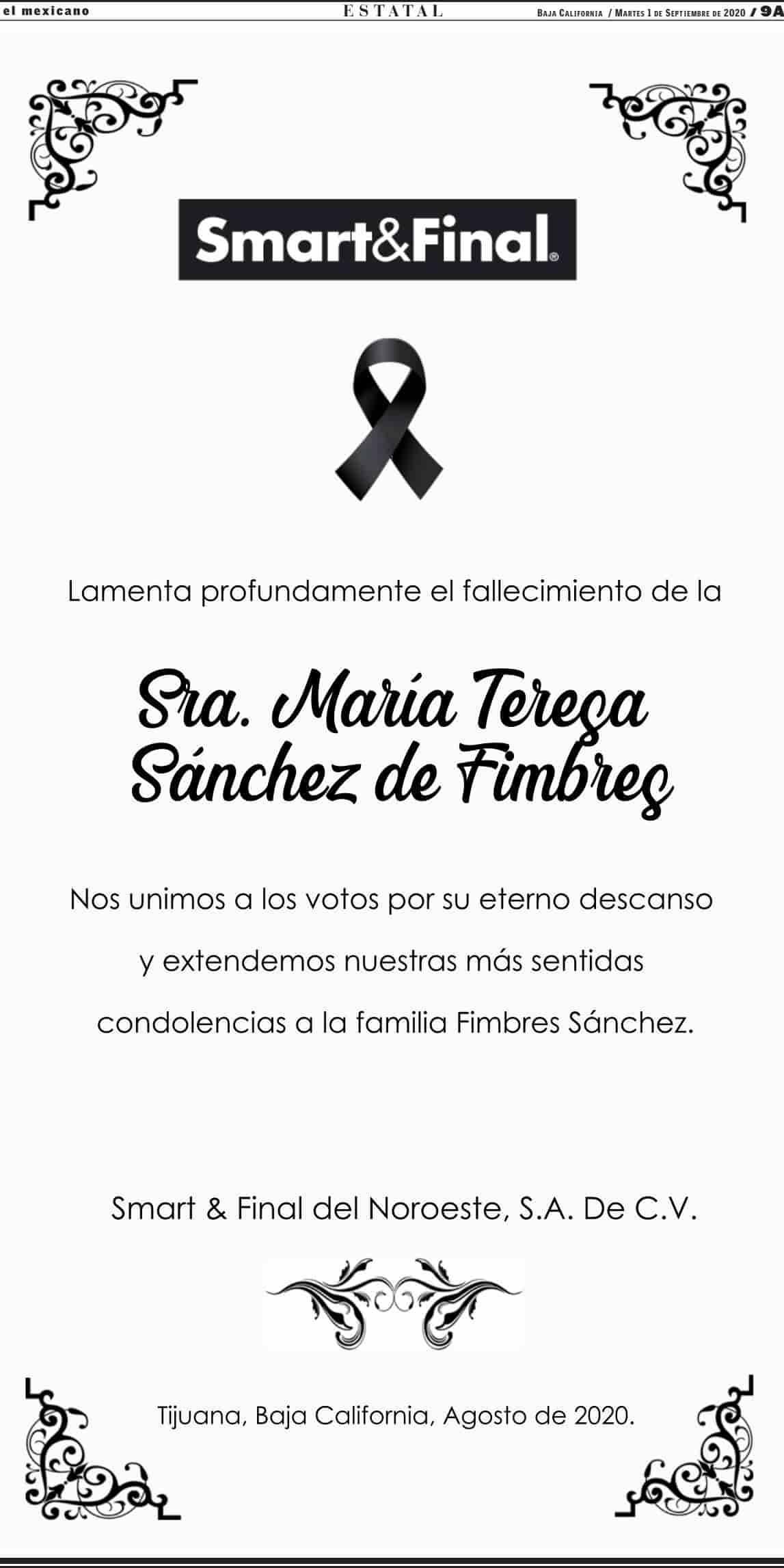 María Teresa Sánchez de Fimbres