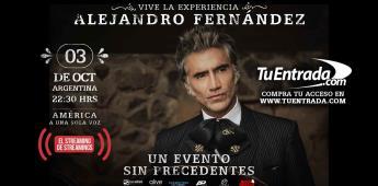 Alejandro Fernández el máximo exponente de la música mexicana, presenta América a una sola voz