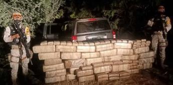 Decomisan vehículo con 200 kilos de drogas