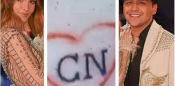 La mayor prueba de amor: Belinda se tatuó las iniciales de Christian Nodal dentro de un corazón