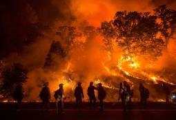 Mínimo 200 turistas rescatados vía aérea tras quedar atrapados en incendio forestal en California
