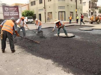 Más de 48,000 beneficiados de la zona centro con obras de mejoramiento de vialidades
