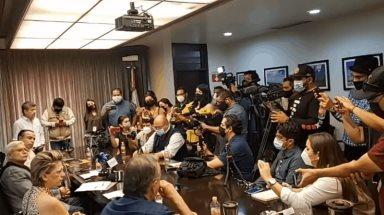 El Gobernador Jaime Bonilla da atención a representantes de los medios de comunicación