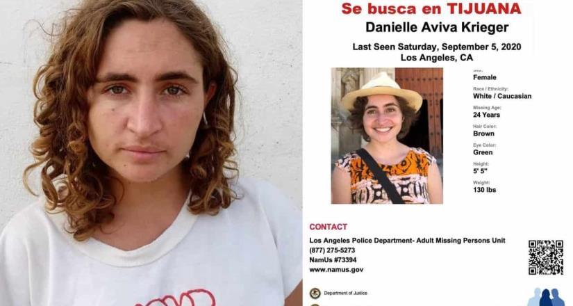 Localizan a  Danielle  en Tijuana, contaba con reporte extravío en Los Ángeles