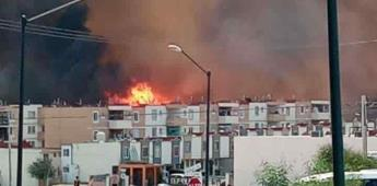 Atiende bomberos Tijuana dos incendios en pastizales en fraccionamiento Natura y Bulevar 2000