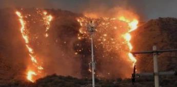 Voraz incendio forestal en colonia El Escorial