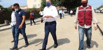 Invierte Ayuntamiento en pavimentación de calles en la colonia Libertad
