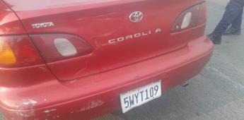 Mediante arco lector recuperan vehículo robado