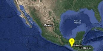 Se registra sismo magnitud 4.6 en Huixtla, Chiapas