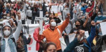 Damnificados del 19-S marchan hacia el Zócalo