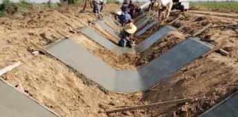 Dieron inicio obras de rehabilitación de la red hidráulica en el distrito de riego 014