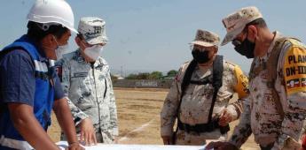 Supervisan obras de la estación de la Guardia Nacional