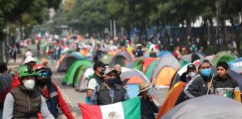 Casas de campaña de Frente Anti-AMLO están vacías a un día de plantón