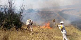 Apoyaron militares con el combate de incendios