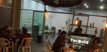 Surge taquería con temática de Covid en León, Guanajuato