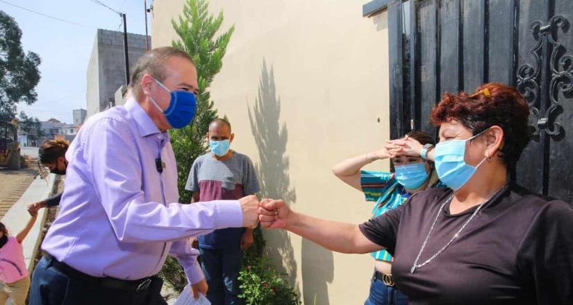 Ayuntamiento garantiza mejores condiciones de movilidad con pavimentación en Col. Colas de Matamoros