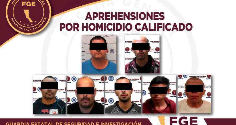 Arrestan a 7 aprehensiones por homicidios en 24 Horas