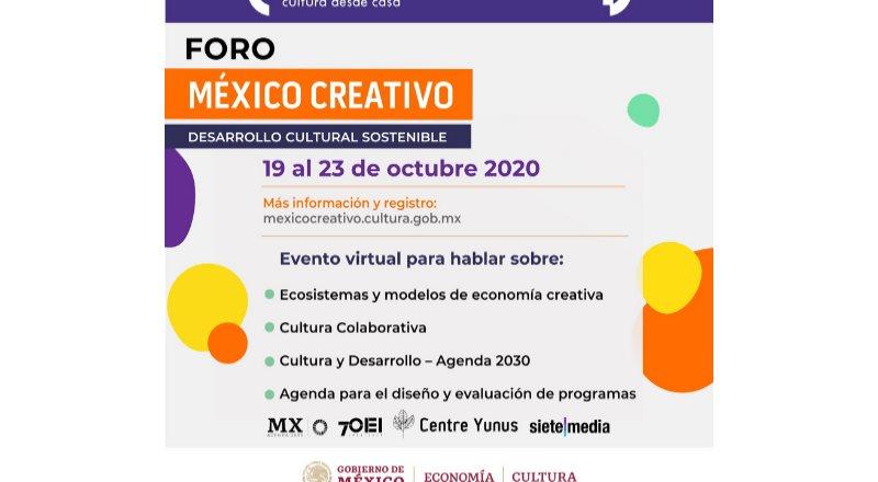 Se realizará en línea Foro sobre Desarrollo Cultural Sostenible