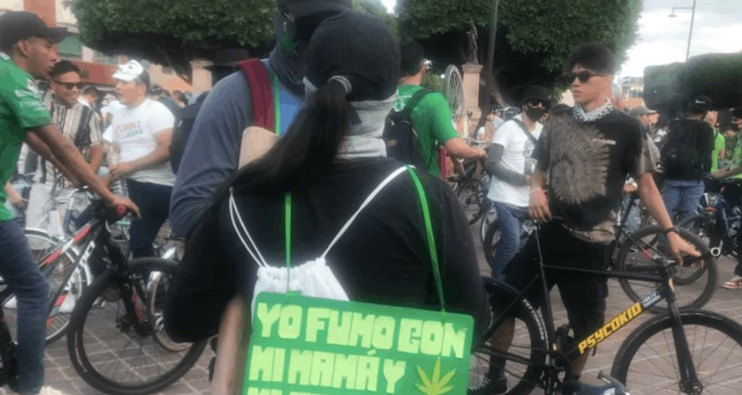 Más de 2 mil personas protestan por legalización de marihuana en León