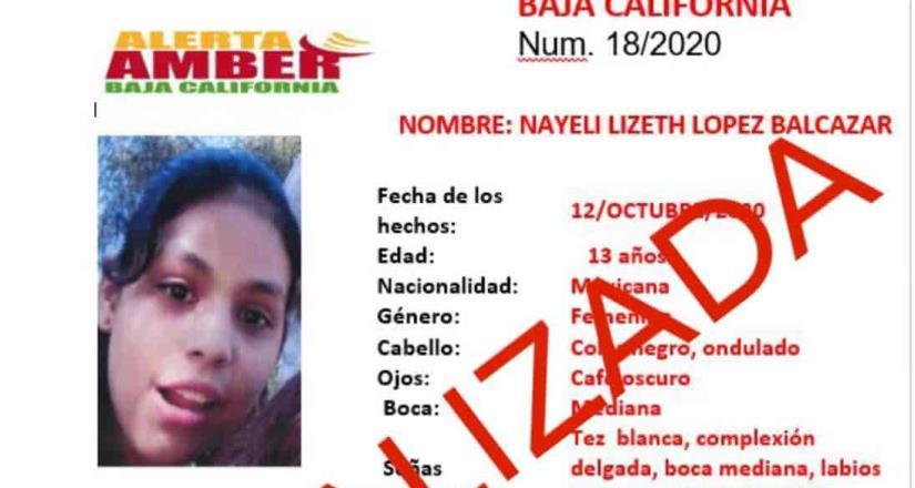 La FGE informa que la menor Nayeli López de 13 años ya fue localizada