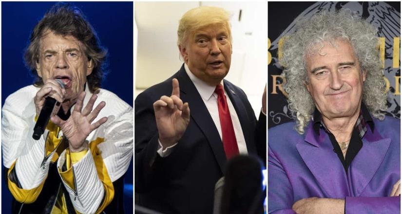 Hasta con la música ha tenido problemas Donald Trump