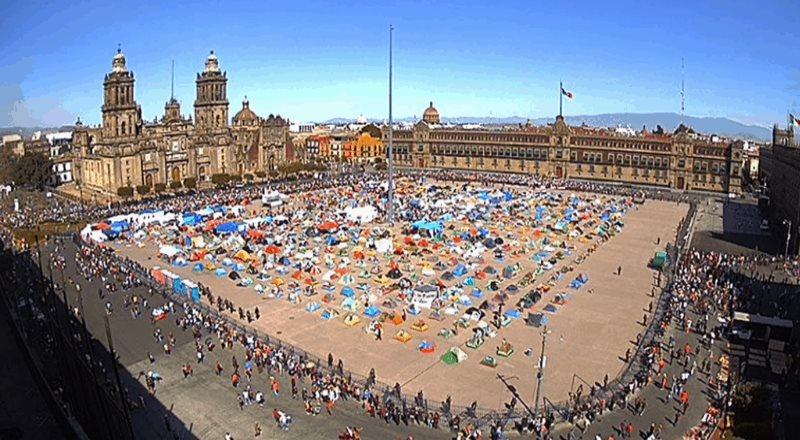 Estiman 5 mil 700 participantes en marcha pro AMLO en CDMX