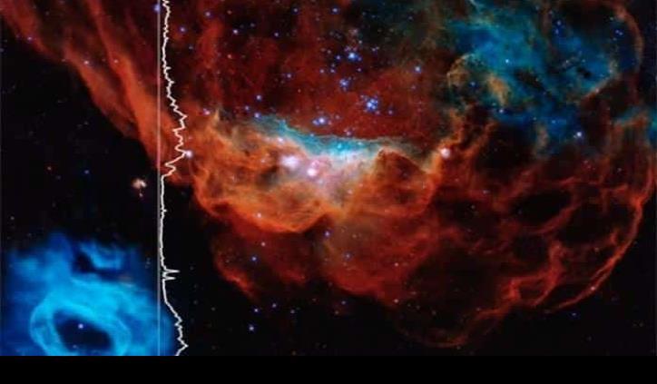 ¿Alaridos? La NASA muestra la caja de música de nebulosas y estrellas