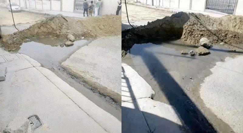 Derrame de agua deteriora vialidad en la colonia Urbi Villa del Prado