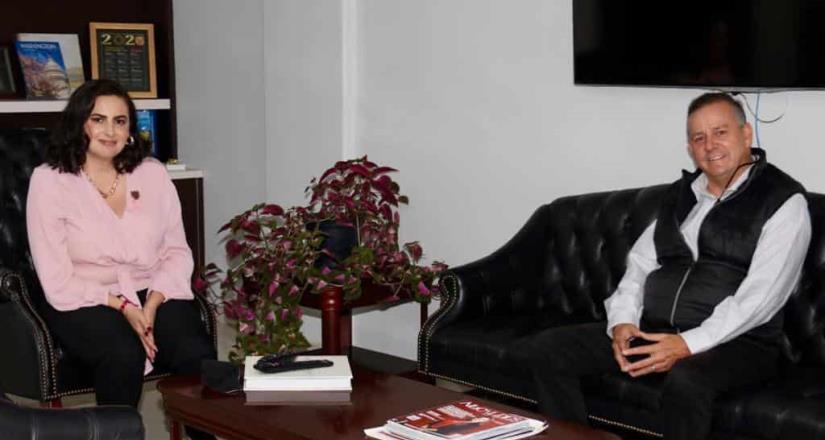 Se reúne senador Gerardo Novelo con Karla Ruíz, alcaldesa de Tijuana