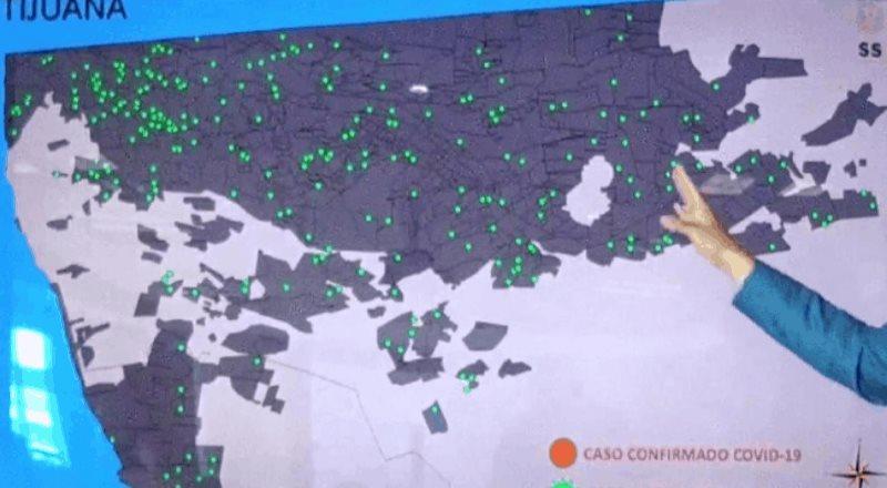 Se enlistan las colonias con más casos de COVID-19 en Tijuana