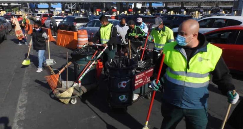 Realiza Ayuntamiento jornada de limpieza y desinfección en Garita de San Ysidro