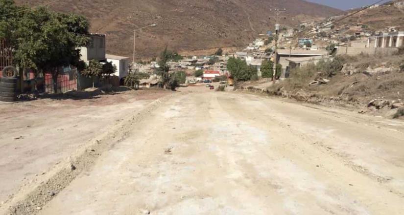 Suspenden tránsito vehicular de calle imperial de la colonia Altiplano