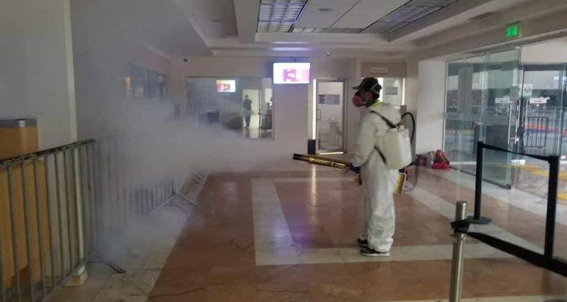 Ayuntamiento continúa realizando acciones de desinfección en Palacio Municipal