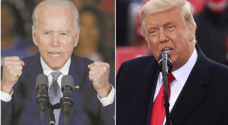 Trump y Biden se acusan en Twitter a tres días de elección