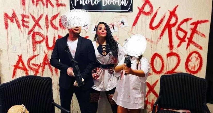 Regidora de Tijuana causa polémica por armas en disfraz