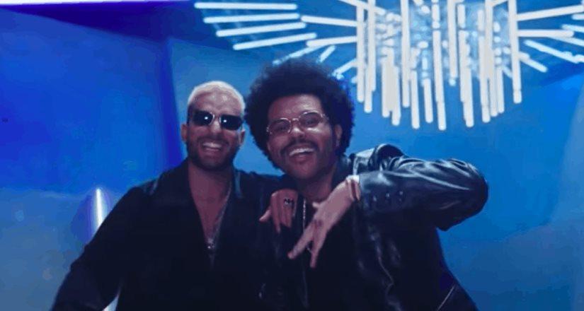 The Weeknd baila como una flor horas antes del estreno del remix de Hawái con el colombiano Maluma