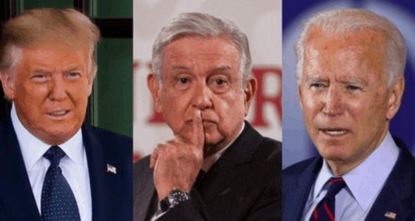 Felicitan a AMLO por no reconocer triunfo de Biden
