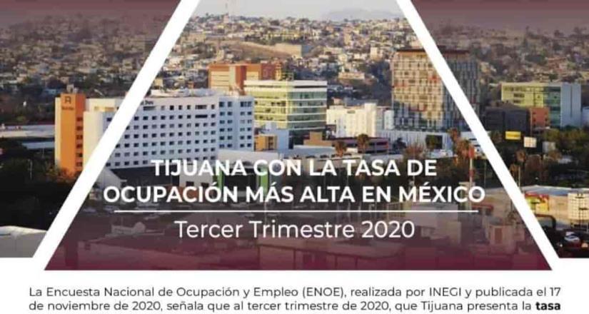 Tijuana con la tasa de ocupación más alta en México
