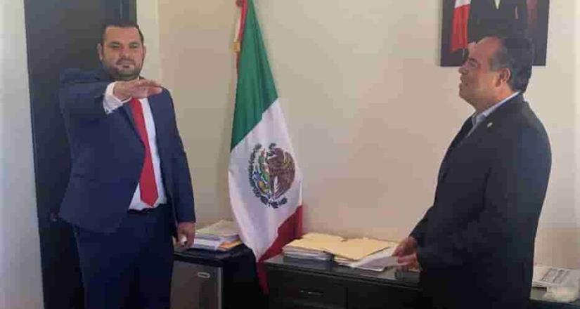 Designan como oficial mayor de Baja California a Adalberto González Higuera